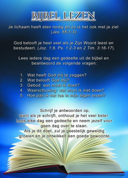 Proclamatiekaart Bijbellezen