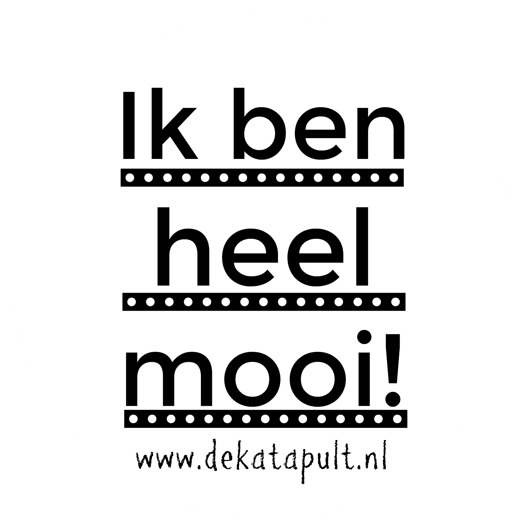 Sticker Mooi