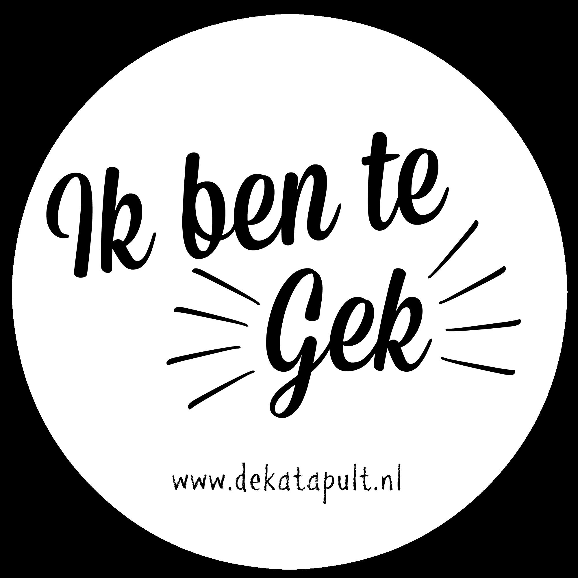 Sticker Te Gek