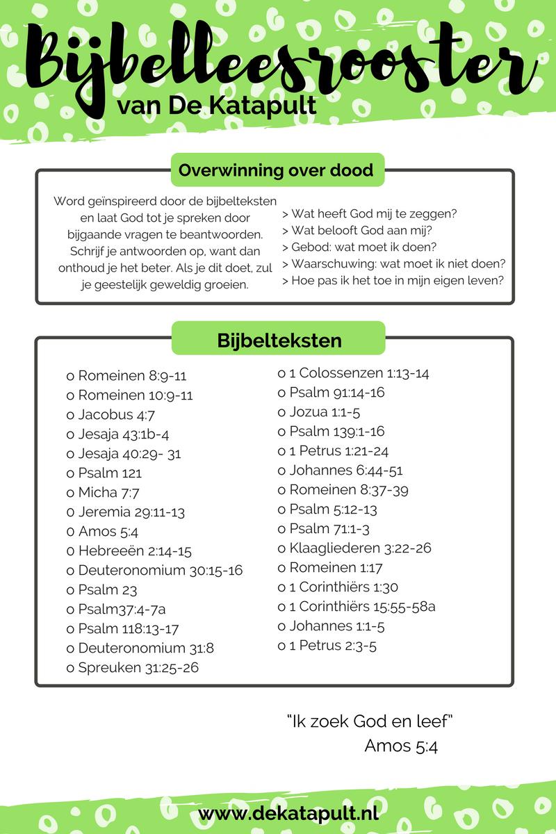 Bijbelleesrooster Overwinning Over Dood