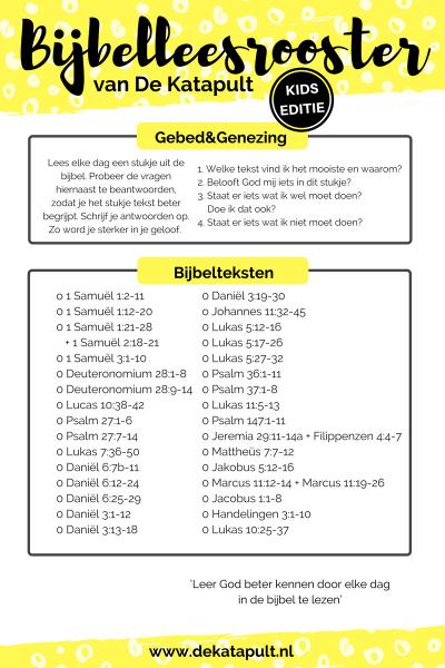 Bijbelleesrooster Gebed&Genezing