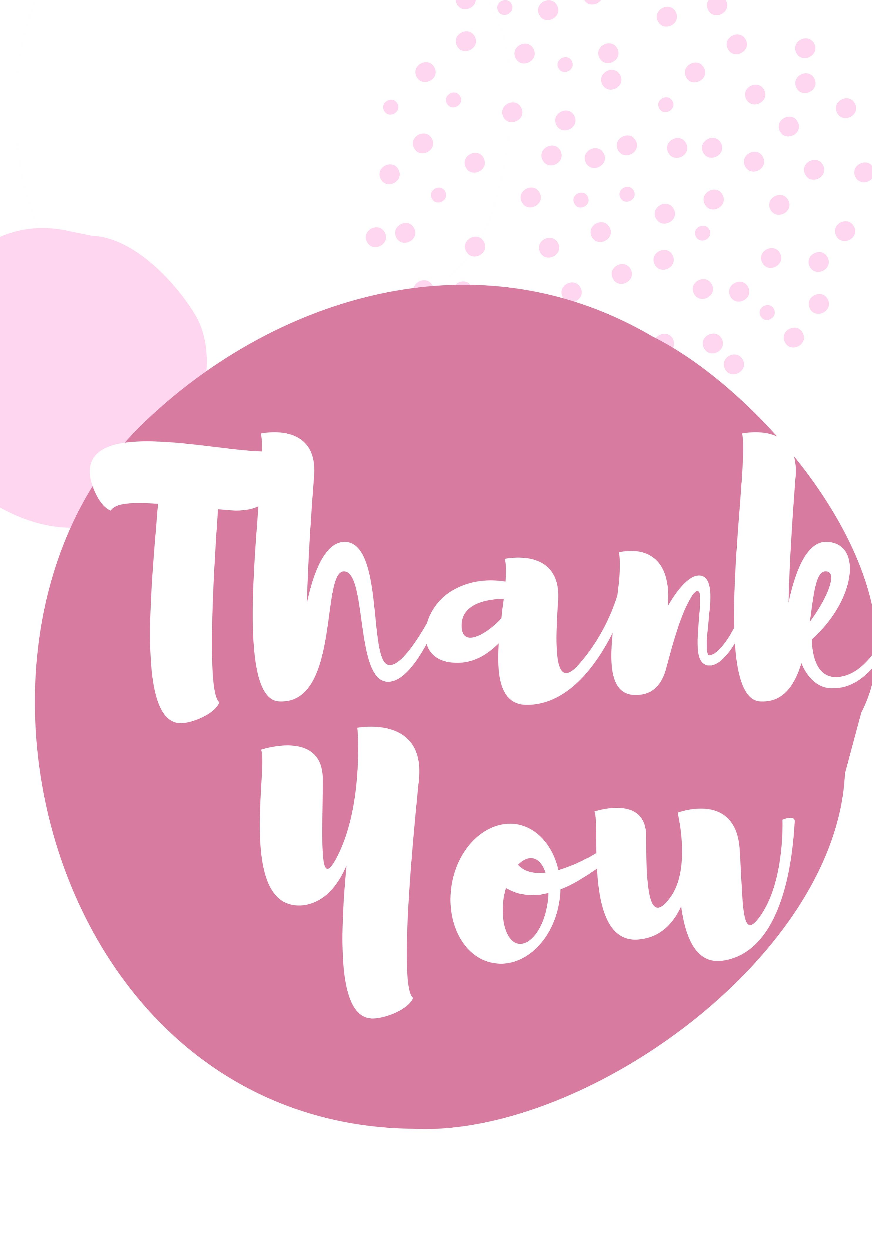 Ansichtkaart Serie Pink              Thank You