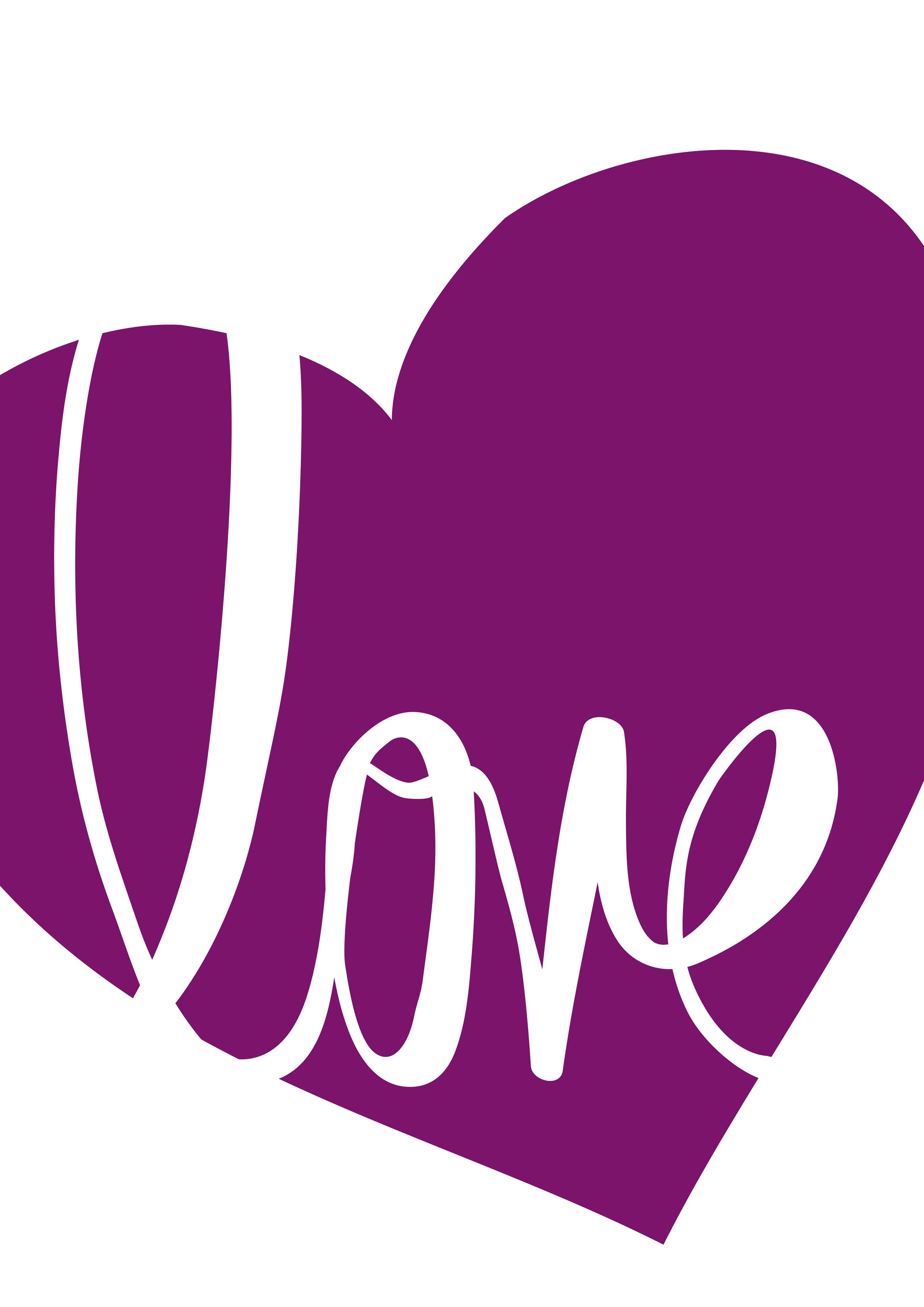 Ansichtkaart Serie Pink              Love