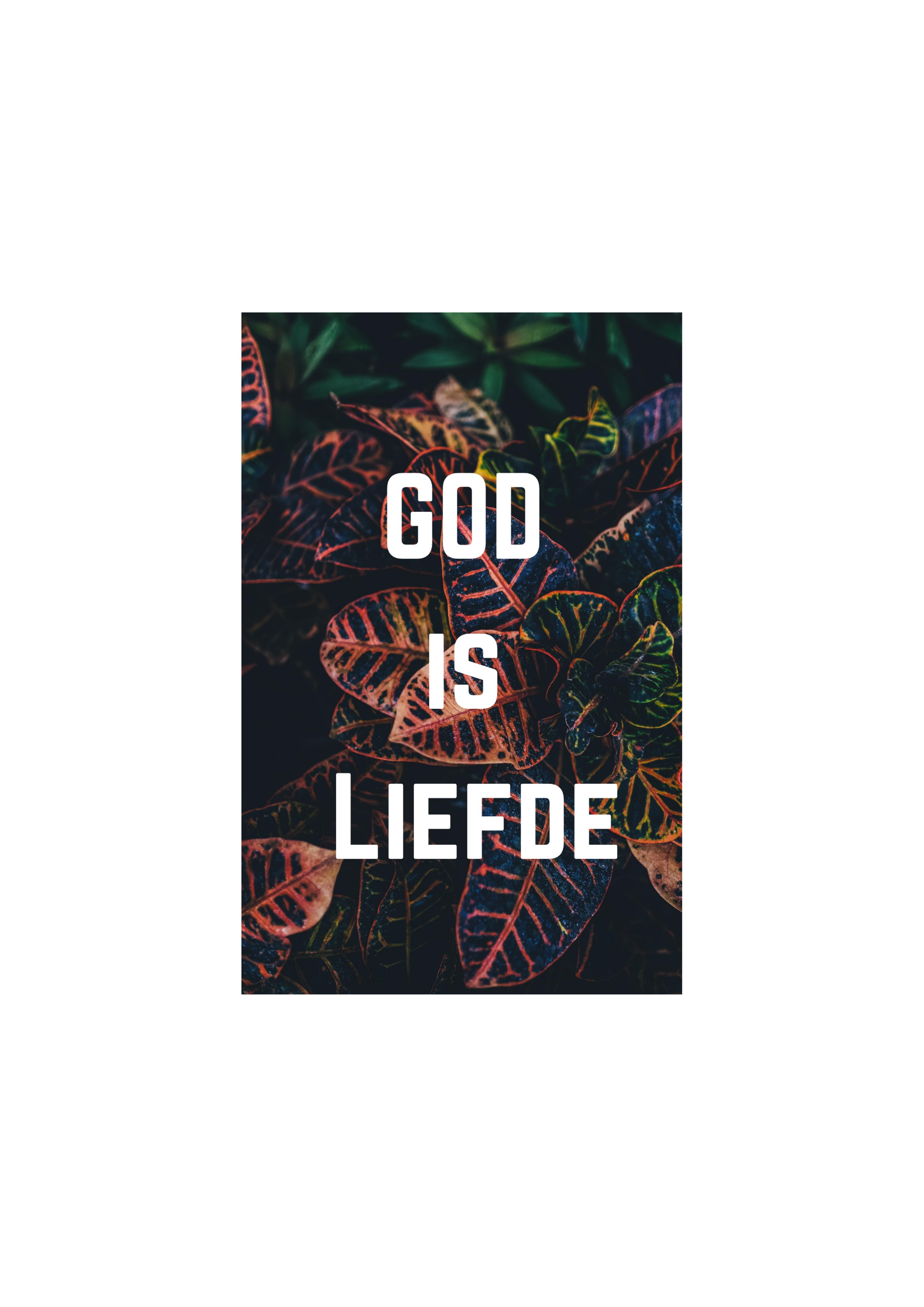 Kaartje 06 God Is Liefde 10stuks