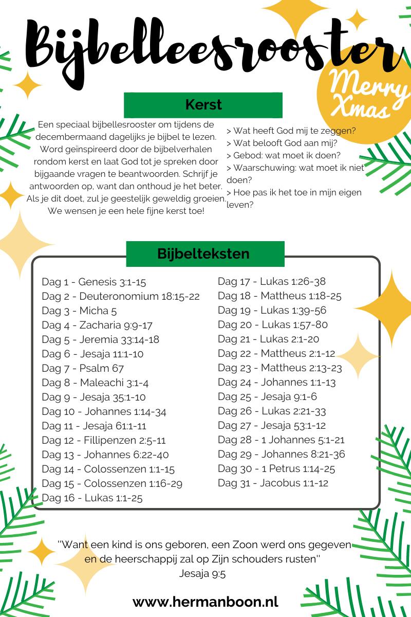 Bijbelleesrooster Kerst